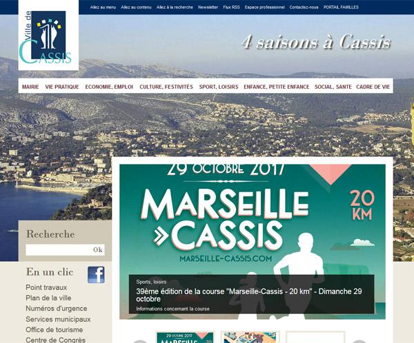 Website of the Cassis City